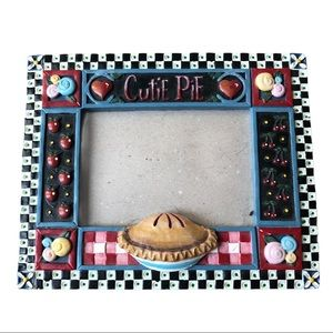 """Cutie Pie"" adorable picture frame 6x7.5 inches"